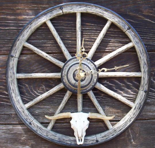 I Love USA Long-Horn-Clock