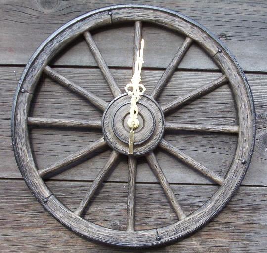 Western Wagon Wheel Clocks